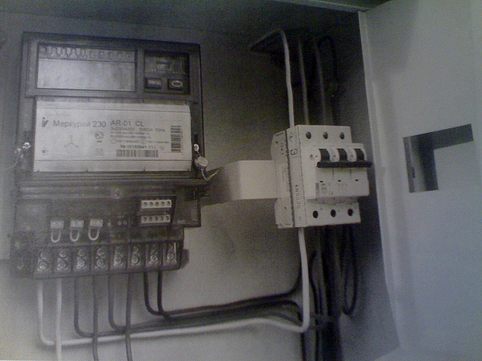 схема подключения 3х фазный счетчик