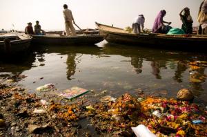 Трупы в воде Ганга