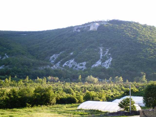 Гора и лес.Очень красивая гора.