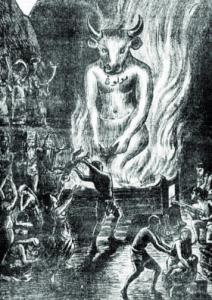Насильники.Приношение детей в жертву богу Молоху