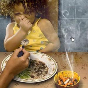 Вред сигарет.Страдают дети.Они часто болеют