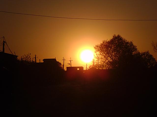 Закат солнца.Поездка подошла к концу