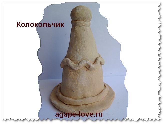 Изделия из глины.Колокольчик глиняный