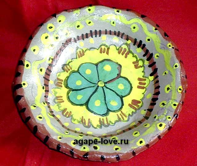 Изделия-Юли----весенняя-тарелочка. Красивая